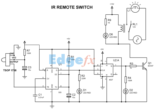 ir remote basics how tv remote work as a transmitter applications main electrical panel wiring diagram ir remote control circuit diagram