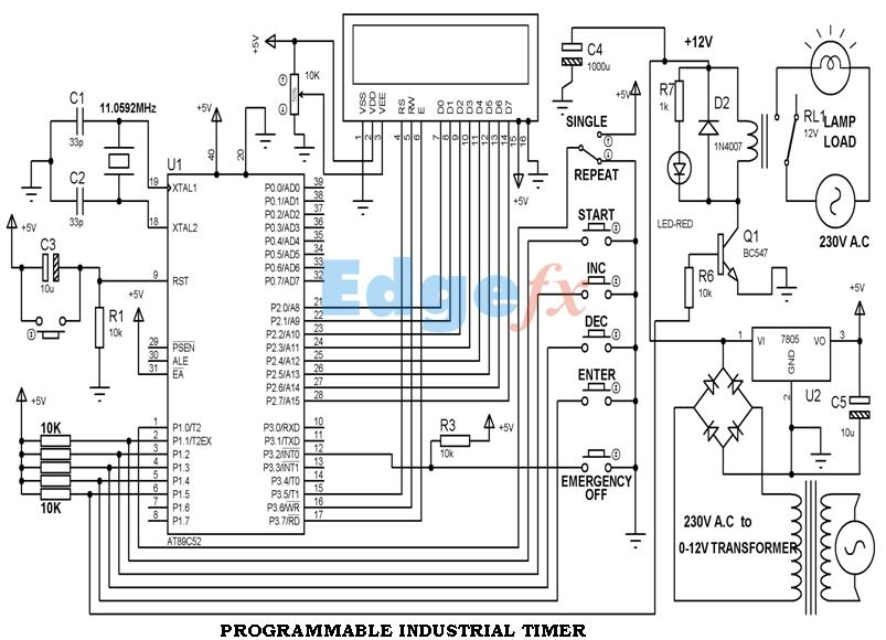 types of timer circuits with schematics and its working principle