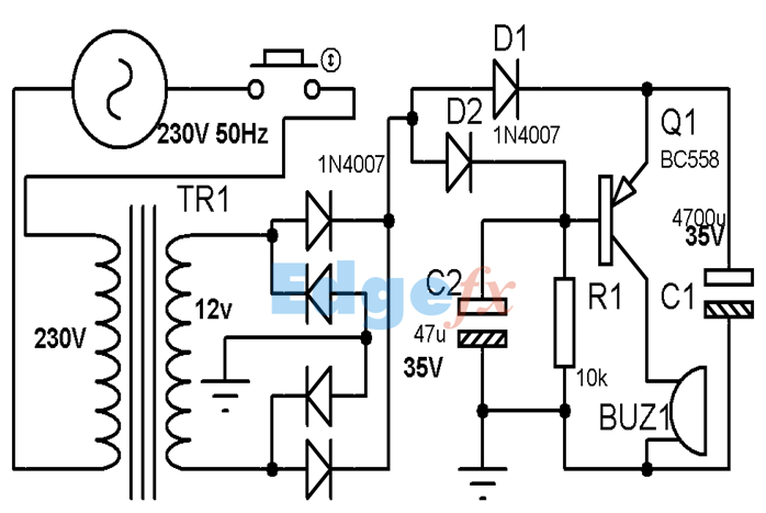 Power Supply Failure Circuit Diagram