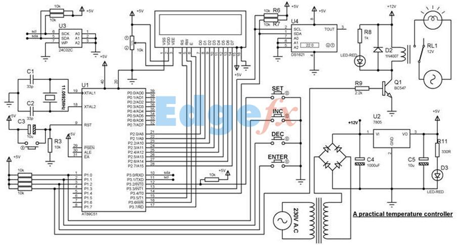 Practical Temperature Controller Circuit Diagram