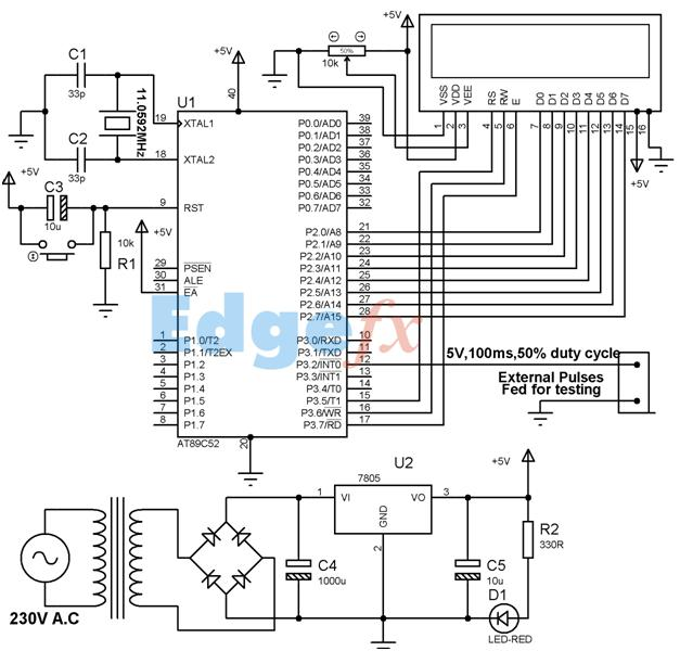 Pulse Counter Circuit Diagram