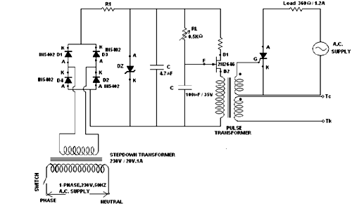 Application of UJT to trigger a TRIAC
