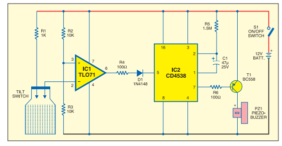 Laptop protector circuit using ICTL0 71.