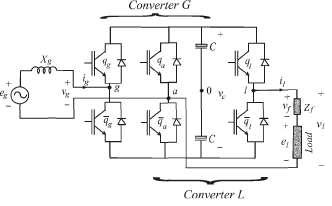 single phase - three leg ac to ac converter Diagram