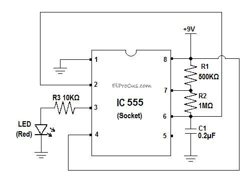IC 555 Timer - Pin Daigram with Configuration and it's ... Ic Ne Pin Diagram on
