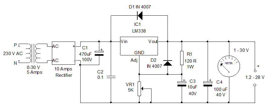 Variable-power-supply-using