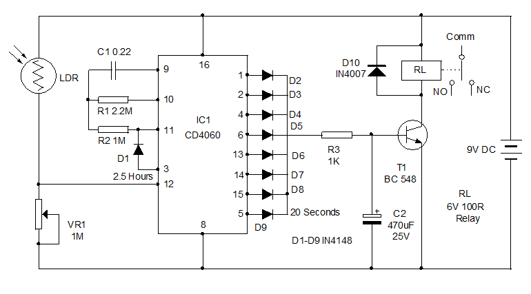 types of timer circuits with schematics and its working principle rh elprocus com electronic timer circuit diagram timer switch circuit diagram