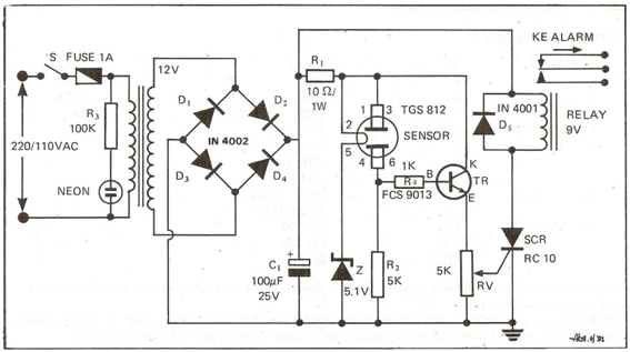Gas Sensor Working Circuit