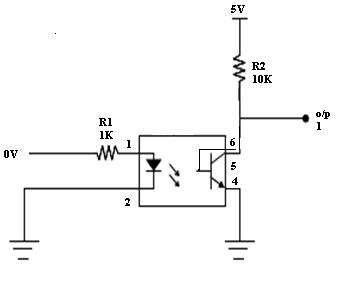 MCT2E Opto-Coupler - Circuit