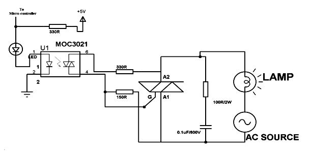 MOC3021 - Circuit