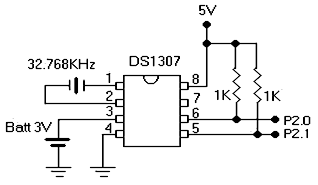 RTC DS1307 Circuit