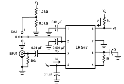 Working of LM567 PLL Tone Decoder
