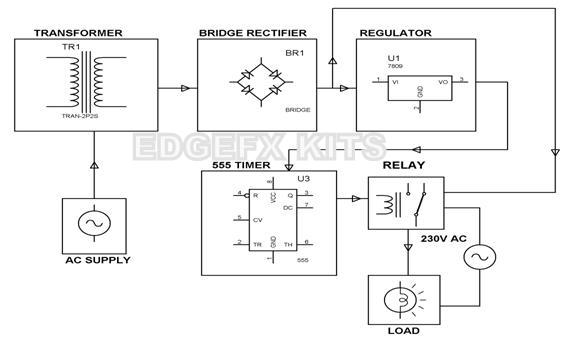 Circuit diagram for time delay based relay operated load