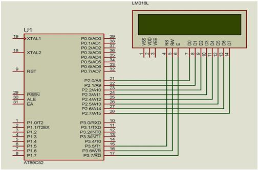 Interfacing 16x2 LCD display with 8051 microcontroller