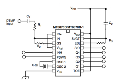encoders and decoders introduction and working with different ics rh elprocus com DTMF Decoder Online ht9170 dtmf decoder circuit diagram