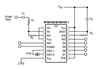 MT8870C MT8870C Circuit
