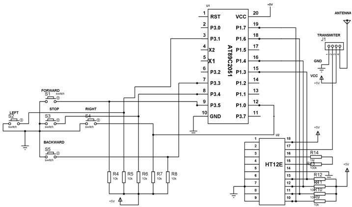 rf transmitter circuit diagram