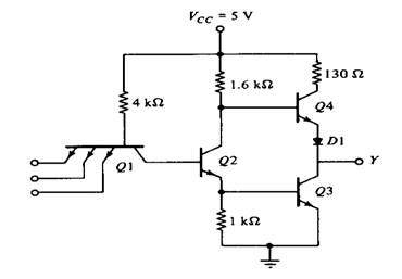 ttl transistor transistor logic families history and applications rh elprocus com ttl output circuit diagram ttl inverter circuit diagram