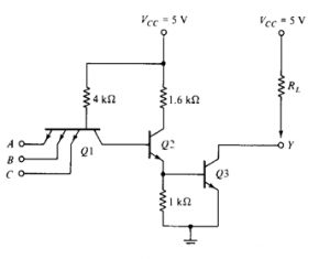 Open Collector Output of Transistor Transistor Logic