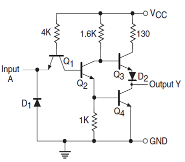 ttl transistor transistor logic families history and applications rh elprocus com ttl to rs232 converter circuit diagram ttl nand gate circuit diagram