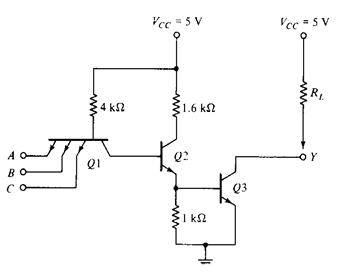 Ttl Circuit Diagram | Ttl Transistor Transistor Logic Families History And Applications
