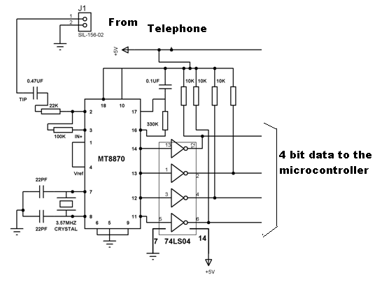 Working of DTMF DECODER MT8870