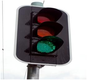 A traffic Signal display