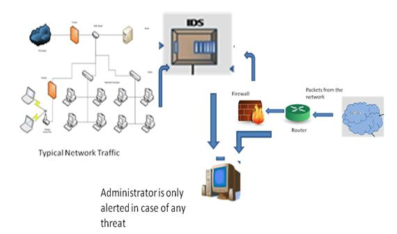 Passive Intrusion Detection System