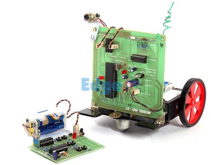 RF Controlled Robotic Vehicle with LASER beam arrangement
