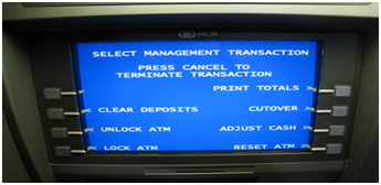 Automatic Teller Machine LCD Display