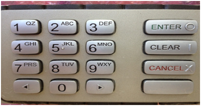 Automatic Teller Machine keypad