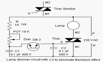 triac triggering modes working and applications rh elprocus com Triac Circuit Projects triac application schematic