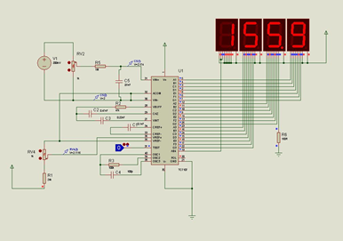 digital voltmeter electronic circuit diagram
