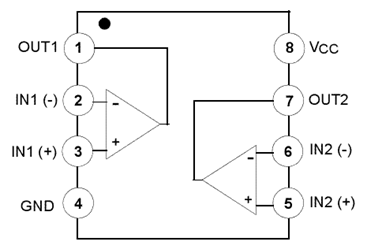 List of 10 Op-Amps | Pin Configuration of ICs and Working ... Op Amp Pin Diagram on