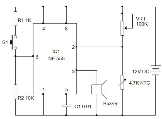 Simple heat sensor