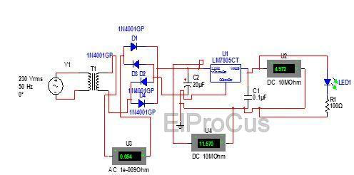 A complete Simulated Circuit Diagram