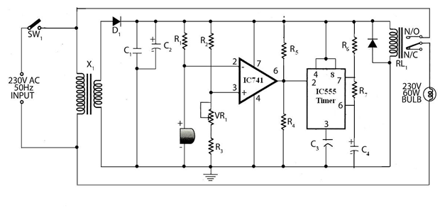 Simple Sound Operated Switch circuit