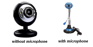 Webcam with & without microphone