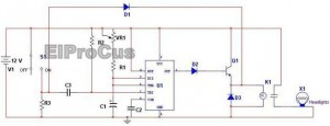 Automatic Car Headlights Circuit Diagram