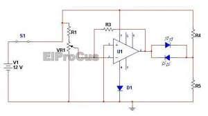 Battery Voltage Monitor Simple Electronics Projects Circuit Diagram