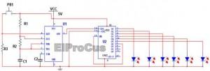 Electronic Dice Circuit Diagram