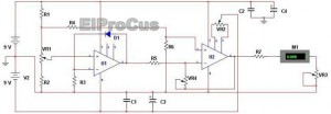 Electronic Thermometer Circuit Diagram