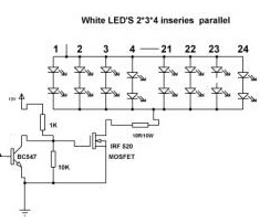 Driving an array of LEDs