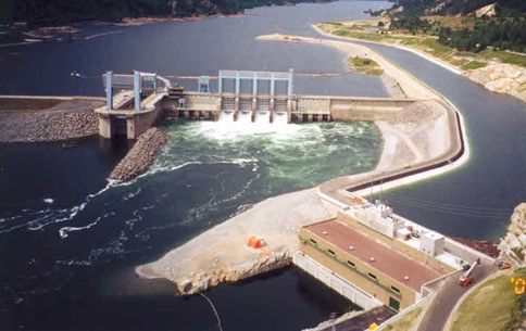 Run of river hydro plant