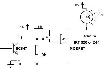 Switching Lamp using MOSFET