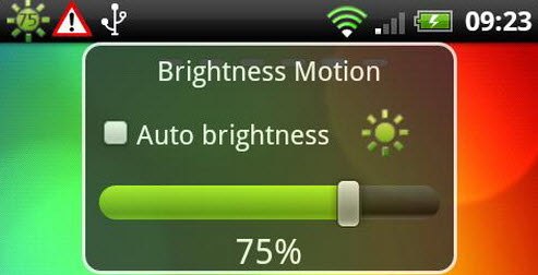 Android Based Brightness Control Application