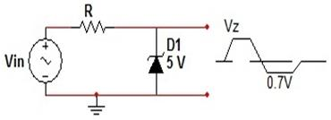 zener diode as voltage clamper