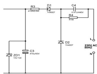 Zener diode voltage regulation application