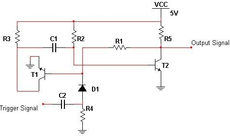 the different types of multivibrator circuits for pulse generationmonostable multi vibrator circuit