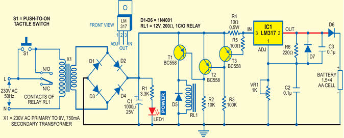 Electric Car Battery Charger Circuit